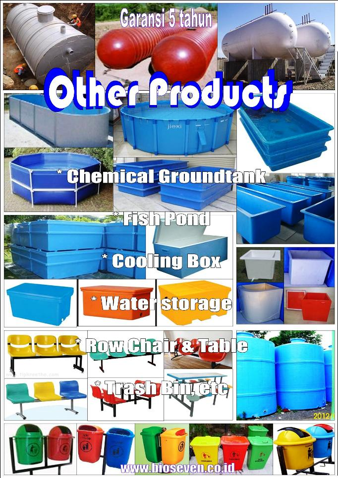 BIOSEVEN Ground Tank (Tangki Tanam - Tangki Kimia) - Fish Pond - Cooling Box - Trash Bin